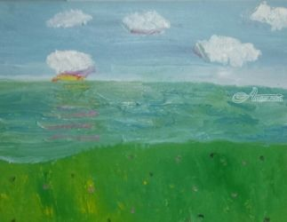 Sun and the Sea, Paintings, Impressionism, Landscape, Oil, By MD Meiser