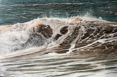 The sea, Paintings, Realism, Nature, Canvas,Oil,Painting, By Aflatun Israilov