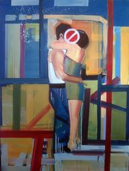 A difficult mother, Paintings, Pop Art, Figurative, Canvas,Oil,Wood, By Piotr Kachny