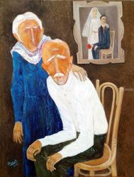 A LIFE, Paintings, Modernism, Figurative, Canvas, By ZAKIR AHMEDOV