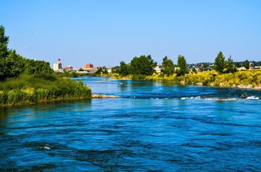 A Wyoming River 1, Photography, Fine Art, Nature, Photography: Photographic Print, By Jim Stewart
