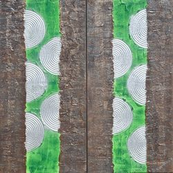 A132 green abstract diptych<br>Abstract Painting vertical<br>wall art Acrylic Original<br>Contemporary Art, Decorative Arts,Multipanel Art,Paintings,Sculpture, Abstract,Expressionism,Minimalism,Modernism, Decorative, Acrylic,Canvas,Mixed,Painting, By Ksavera Art
