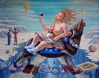 Abduction of Europe, Paintings, Expressionism, Figurative, Oil, By Ihor Khoynyak