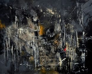abstract 184150, Paintings, Abstract, Decorative, Canvas, By Pol Ledent