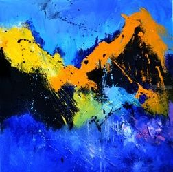abstract 447030, Paintings, Abstract, Decorative, Canvas, By Pol Ledent