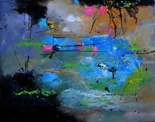 abstract 545121, Paintings, Abstract, Decorative, Canvas, By Pol Ledent