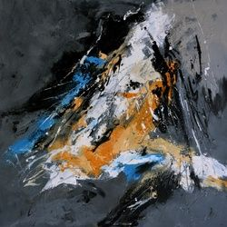 abstract 61103, Paintings, Abstract, Decorative, Canvas, By Pol Ledent