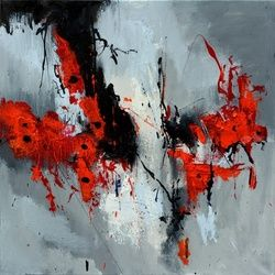 abstract 61701, Paintings, Abstract, Decorative, Canvas, By Pol Ledent