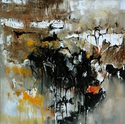 abstract 61703, Paintings, Abstract,Expressionism, Decorative, Canvas, By Pol Ledent
