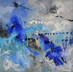 abstract 66712002, Paintings, Abstract, Decorative, Canvas, By Pol Ledent