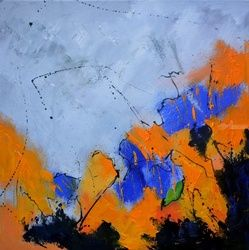 abstract 712042, Paintings, Expressionism, Decorative, Canvas, By Pol Ledent