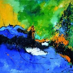 abstract 712061, Paintings, Abstract, Decorative, Canvas, By Pol Ledent