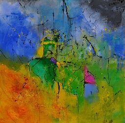 abstract 8841701, Paintings, Abstract, Decorative, Canvas, By Pol Ledent