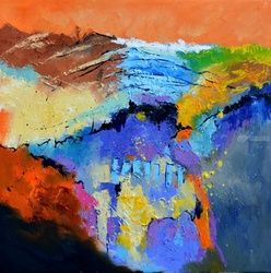 abstract 8871051, Paintings, Abstract, Decorative, Canvas, By Pol Ledent