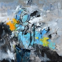 abstract 8871502, Paintings, Expressionism, Figurative, Canvas, By Pol Ledent