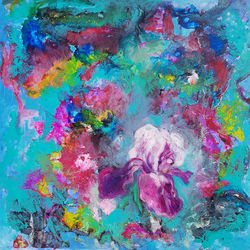 Abstract flowers, Decorative Arts, Abstract, Floral, Acrylic, By Els Driesen