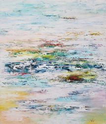 Abstract painting Fog<br>remembers your embrace, Paintings, Abstract,Impressionism, Fantasy,Nature, Canvas, By Larissa Uvarova