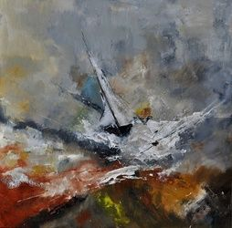 Abstract ship, Paintings, Abstract, Dance, Canvas, By Pol Ledent