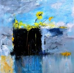 abstract still life, Paintings, Expressionism, Decorative, Canvas, By Pol Ledent