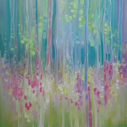 Abstract Summer - a summer<br>wildflower impression, Paintings, Abstract,Expressionism,Impressionism, Floral, Oil, By Gill Bustamante