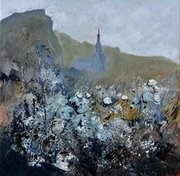 abstract urban landscape, Paintings, Abstract, Decorative, Canvas, By Pol Ledent