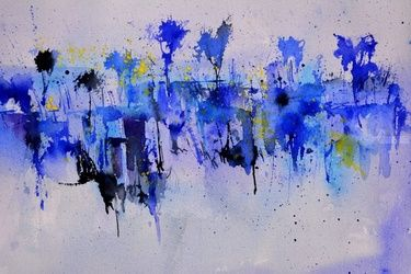 abstract watercolor 512101, Paintings, Abstract, Decorative, Watercolor, By Pol Ledent
