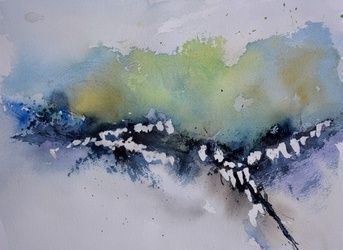 abstract watercolor 615032, Paintings, Abstract, Decorative, Watercolor, By Pol Ledent