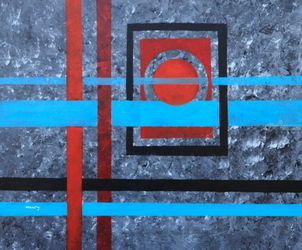 Abtract 42, Paintings, Abstract, Decorative, Acrylic, By Alicia Maury