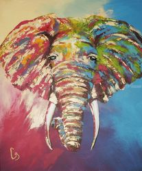 African Elephant, Paintings, Pop Art, Animals, Acrylic, By Craig Granato