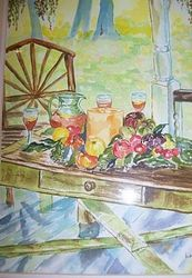 Afternoon Ice Tea, Paintings, Realism, Celestial / Space, Watercolor, By Lora Roberts