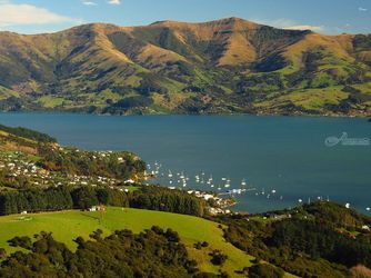 Akaroa 10, Photography, Photorealism, Landscape, Canvas,Digital,Photography: Metal Print,Photography: Photographic Print,Photography: Premium Print,Photography: Stretched Canvas Print, By Ernest Wong