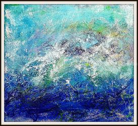 Almost storm -01- (n.441), Paintings, Abstract, Seascape, Acrylic, By Alessio Mazzarulli