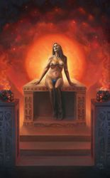 Altar to the Stars, Paintings, Fine Art,Realism,Surrealism, Erotic,Fantasy,People, Oil, By Rebecca Magar