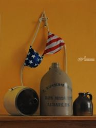 American Jugs, Paintings, Realism, Still Life, Oil, By Marcel Franquelin