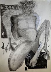 Angel an Devil, Drawings / Sketch, Impressionism, Figurative, Pencil, By Vyara Tichkova