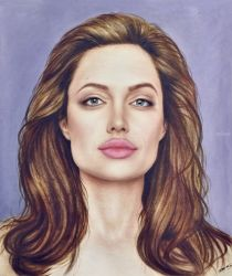 Angelina Jolie, Drawings / Sketch, Realism, Figurative, Oil, By Stefan Pabst