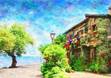 Anguillara Rome Lazio, Paintings, Impressionism, Nature, Oil, By Angelo