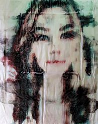 Anita (n.430), Paintings, Abstract, People,Portrait, Acrylic, By Alessio Mazzarulli