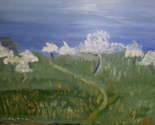 Apple Orchard, Paintings, Impressionism, Landscape, Oil, By MD Meiser