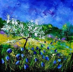 Appletree 7741, Architecture,Decorative Arts,Drawings / Sketch,Paintings, Impressionism, Landscape, Canvas, By Pol Ledent
