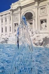 Aqua Virgo, Paintings, Photorealism, Architecture,Landscape, Acrylic, By valeria latorre