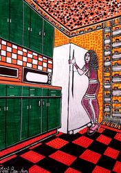Artists from Israel woman<br>jewish painter autentic<br>paintings Mirit Ben-Nun, Paintings, Pop Art, People, Painting, By Mirit Ben-Nun