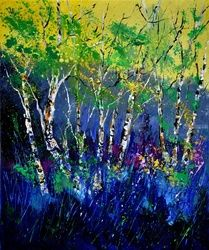 Aspentrees 56, Architecture,Decorative Arts,Drawings / Sketch,Paintings, Expressionism, Landscape, Canvas, By Pol Ledent