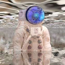 Astronaut First Contact, Digital Art / Computer Art, Chance,Commercial Design,Modernism, Avant-Garde,Fantasy,Figurative,Portrait, Digital, By Matthew Lacey