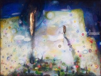 Auriferous, Paintings, Fine Art, Celestial / Space,Landscape, Oil, By J Farfan