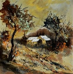 autumn 446110, Architecture,Decorative Arts,Drawings / Sketch,Paintings, Expressionism, Decorative, Bronze, By Pol Ledent