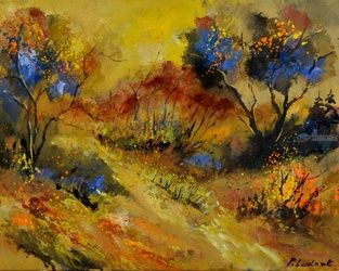 autumn 546190, Architecture,Decorative Arts,Drawings / Sketch,Paintings, Impressionism, Botanical, Canvas, By Pol Ledent