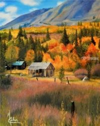 Autumn In Kirkwood, Paintings, Realism, Landscape, Canvas,Oil,Painting, By Micheal Eaken