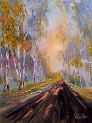 Autumn marathon, Paintings, Impressionism, Landscape, Canvas, By Valeriy Politov