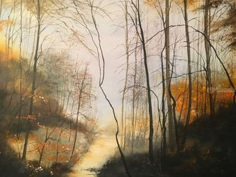 Autumn Passing, Paintings, Impressionism, Landscape, Watercolor, By Stephen Keller